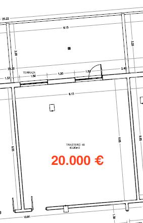 34888 – Amplio trastero de 40m2 en Avenida de la Coruña